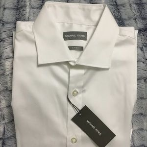 Michael Kors Slim Fit Men's White Dress Shirt